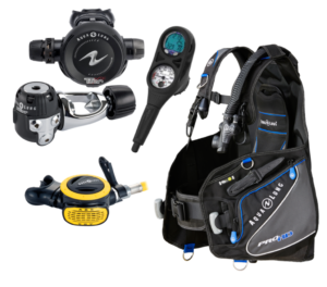 Rental equipment packages a la cart scuba gear reserve online book