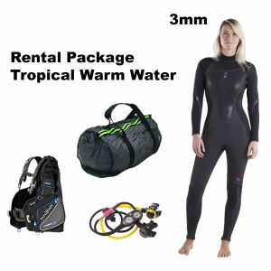 3mm warm water wetsuit for hawaii belize tropics